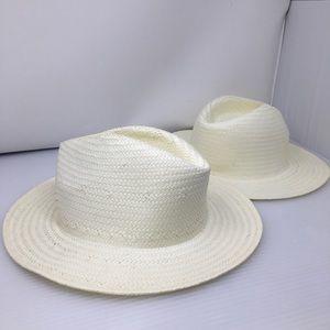 Accessories - White Straw Hats